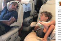 Melissa Satta, la foto di Maddox con il papà sul jet privato: due dettagli non sfuggono ai fan