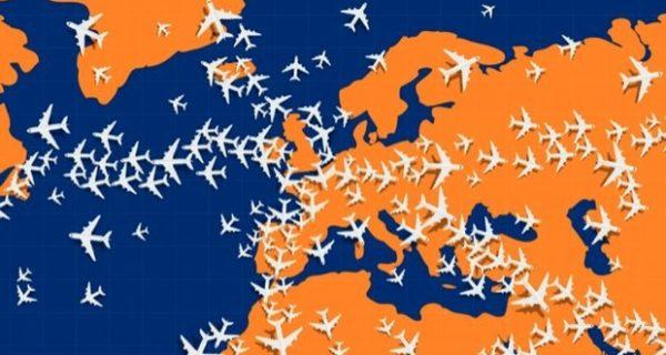 Riuscite a individuare l'aereo che vola in direzione opposta? Il rompicapo fa impazzire il web