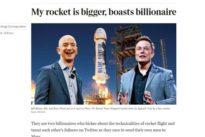 La sfida fra i miliardari Musk e Bezos: «Il mio razzo è più grande del tuo»