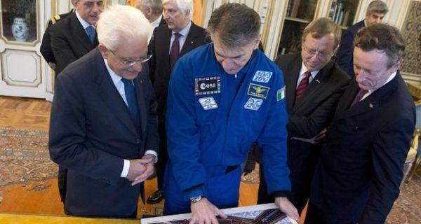 L'astronauta Paolo Nespoli &ldquo-interrogato&rdquo- dagli studenti delle scuole romane e poi in visita al presidente Mattarella