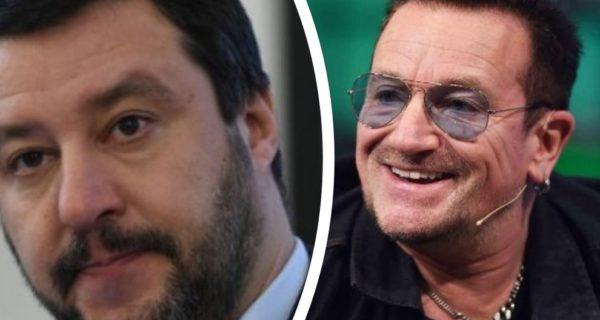 Bono Vox e i migranti: «L'Italia sia più umana». Salvini risponde così