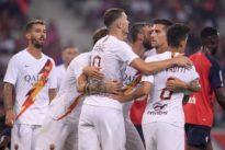 La Roma trascinata da Dzeko batte il Lille 3-2