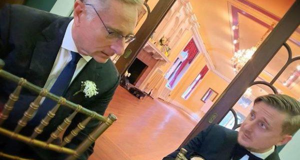 Paolo Bonolis al matrimonio del figlio Stefano: «Il primo di cinque si è sposato»